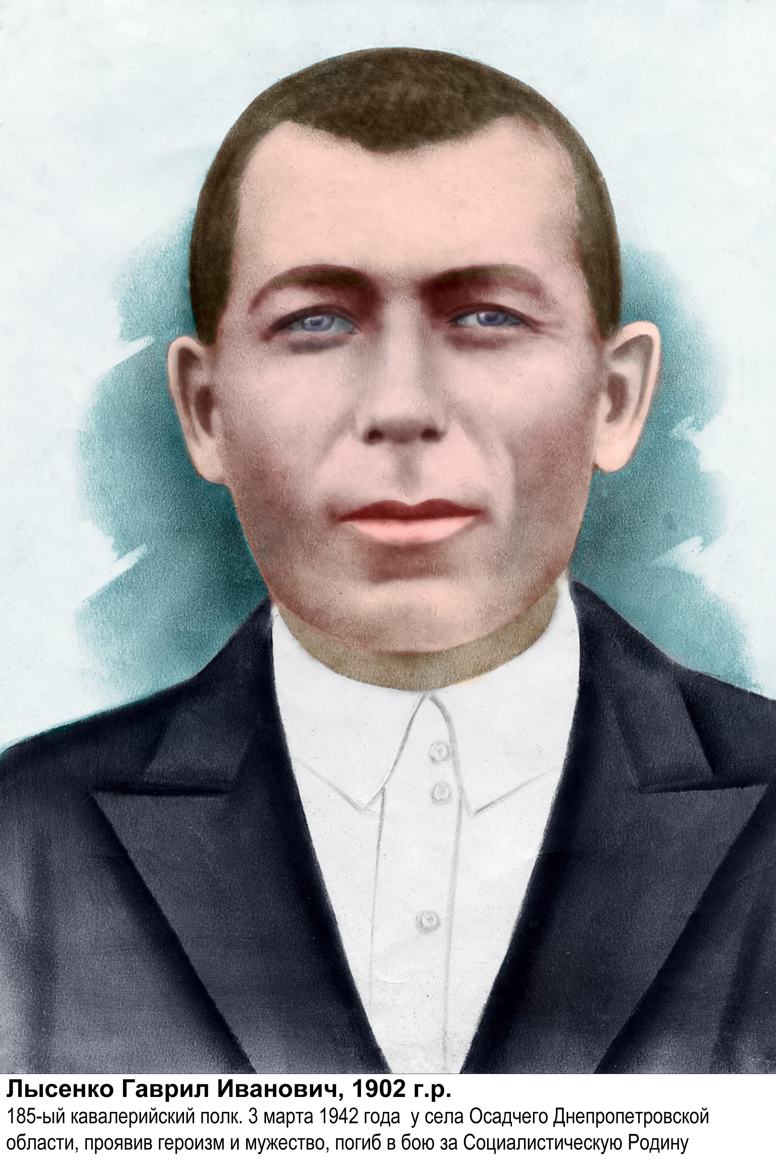 Лысенко Гавриил Иванович